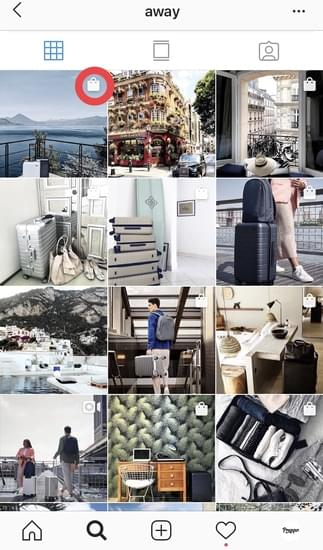 how Instagram shoppable posts are displayed in a profile's feed