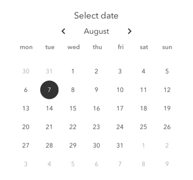 select date for posting on Instagram