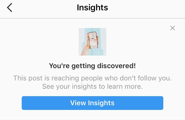 With Instagram analytics you can see what posts are reaching the most people that are not following you