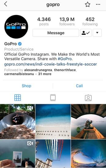 @gopro creative challenges Instagram posts example