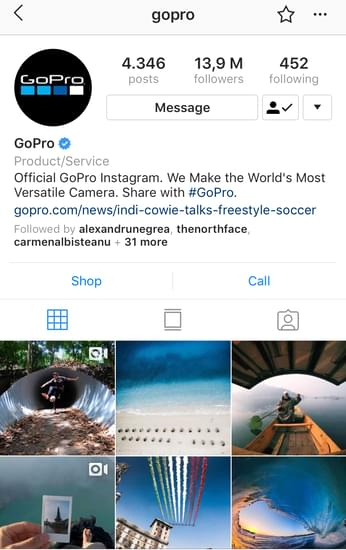 @gopro creative challenges Instagram posts example